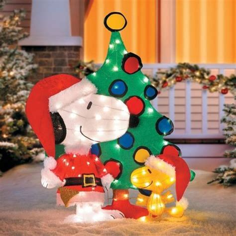 snoopy lighted yard art tis your season 42 quot peanuts snoopy woodstock 3 piece