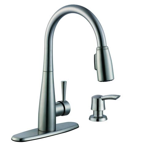 kitchen faucets with soap dispenser glacier bay 900 series single handle pull sprayer