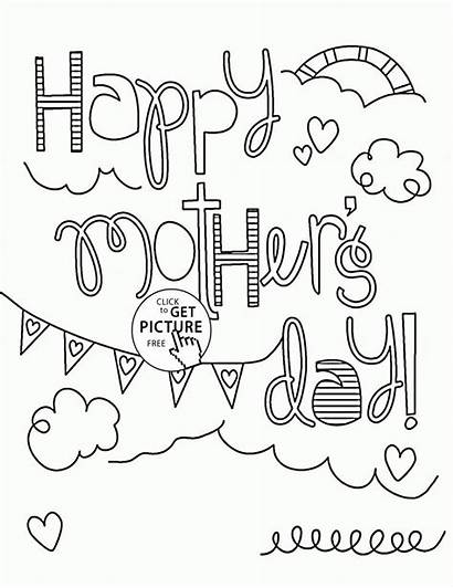 Coloring Mothers Pages Cards Mother Funny Printables