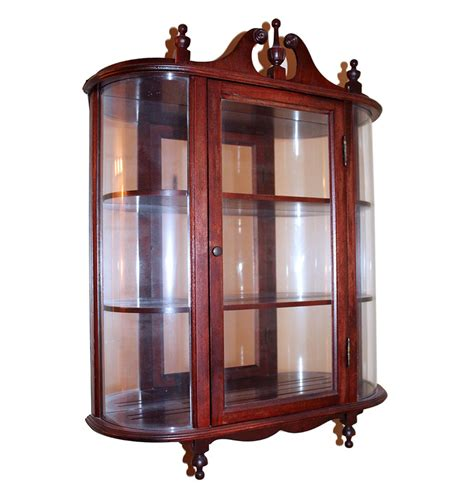 cherry wood curio cabinet small cherry wood and glass wall curio cabinet ebth