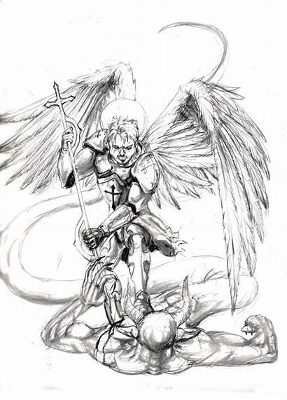 Archangel Michael Tattoo Drawing St Saint Tattoos