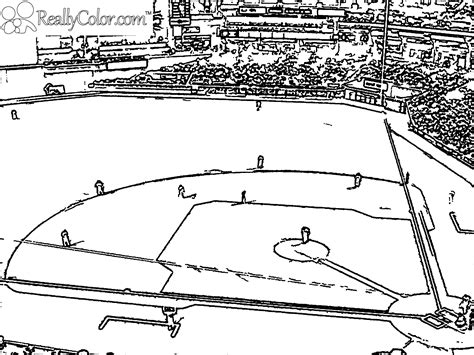 Baseball Field Coloring Pages Getcoloringpagescom