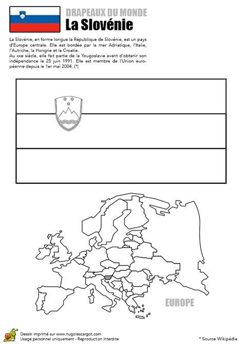 coloriage decouverte europe drapeau la slovenie