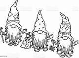 Gnomes Coloring Silhouette Cartoons Gnome Isolated Cartoon Outline Nera Clipart Beard Gnomen Schwarze Silhouet Knap Zwart Caricatures Vectorielles Mignons Noire sketch template