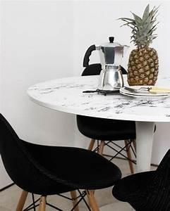 Table A Manger Marbre : 5 tables diy pour votre salle manger shake my blog ~ Teatrodelosmanantiales.com Idées de Décoration