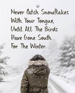 Winter Captions... Fun Seasonal Quotes
