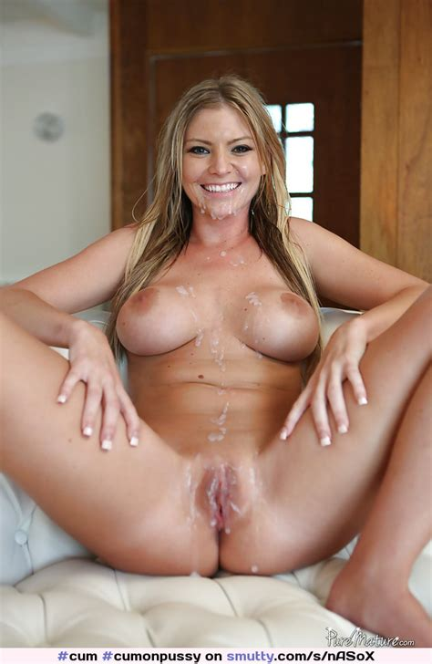 Cum Cumonpussy Cumontits Spread Shaved Blonde Milf Smile Tits Sexy Nice Yes I Would