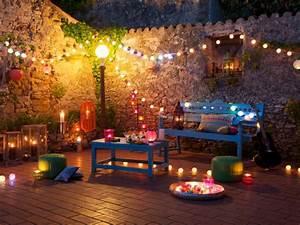 une soiree fete boheme maisonapart With amenagement petit jardin avec terrasse 9 5 idees originales pour leclairage exterieur travaux