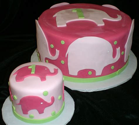 Pink Elephant Cake For Birthday Wallpapers And Images