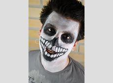 Portrait eines gruseligen Skelett Kerl Carnival face