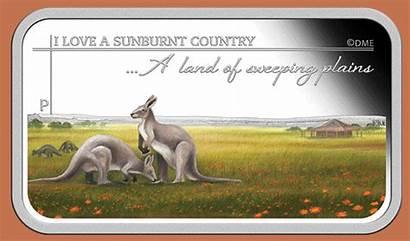 Country Sunburnt Australian Dorothea Mackellar Coins Ani
