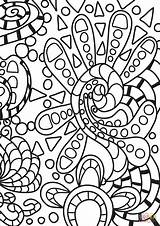 Coloring Abstract Doodle Printable Doodles Drawing Games Adults Paper Dot Categories sketch template