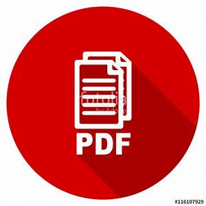 """Flat design red round pdf vector icon"" Stock image and ..."