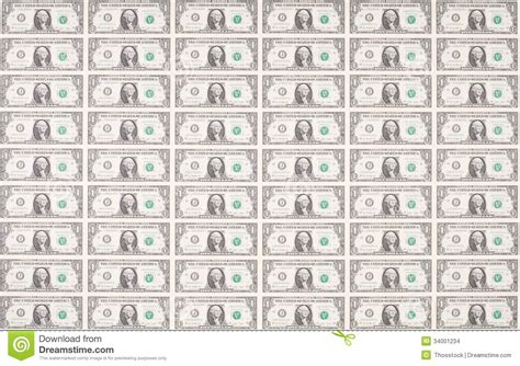 sheet   dollar bills  wallpaper stock photo image