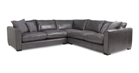 Leather Corner Settee by Dillon Leather Small Corner Sofa Dfs