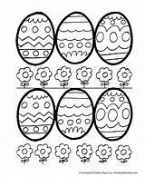 Easter Coloring Egg Pages Eggs Decorative Printable Sheets Honkingdonkey Hard Easy Sheet Baskets sketch template