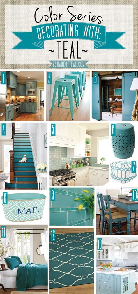 color series decorating  teal