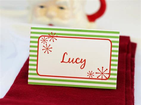 place card holder set of templates for customizable place setting cards diy