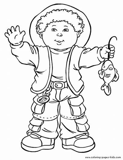 Cabbage Patch Coloring Pages Cartoon Colouring Sheets