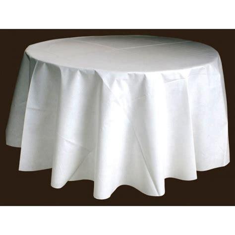 nappe ronde blanche 240 table de cuisine