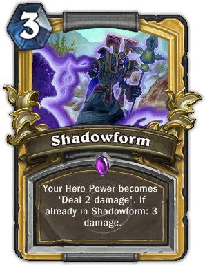 Shadow Priest Deck Hearthpwn by Shadowform Hearthstone Cards