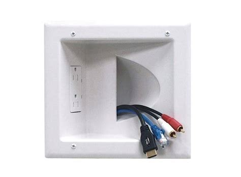 recessed outlets  great   hide messy gadget cords