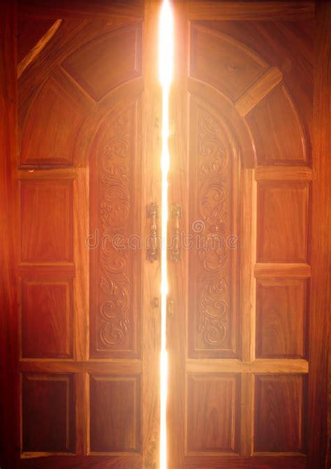 open  door light stock image image  dark indoor