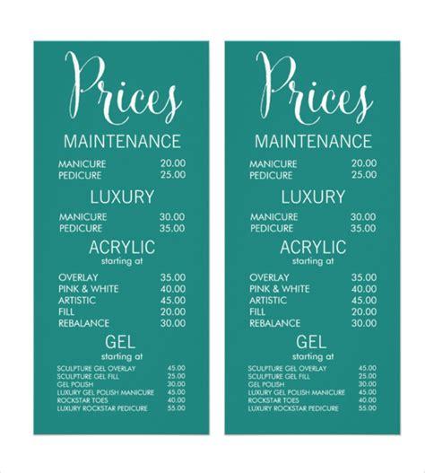 spa menu template 22 price menu templates free sle exle format free premium templates