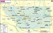 Kern County Map | Kern county, County map, California map
