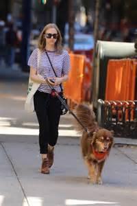 Amanda Seyfried - Walking her dog in West Village