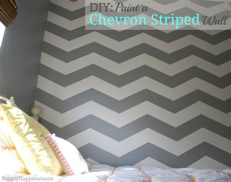 Chevron Template For Painting by Diy Paint A Chevron Striped Wall Simply Happenstance