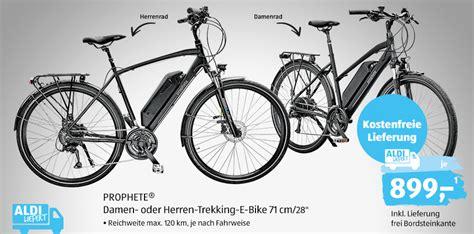 e bike bei aldi e bike ab heute bei aldi f 252 r 899 trekking pedelec prophete im technik check lohnt