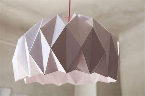abat jour origami diy une suspension origami luminaires origami et bricolage