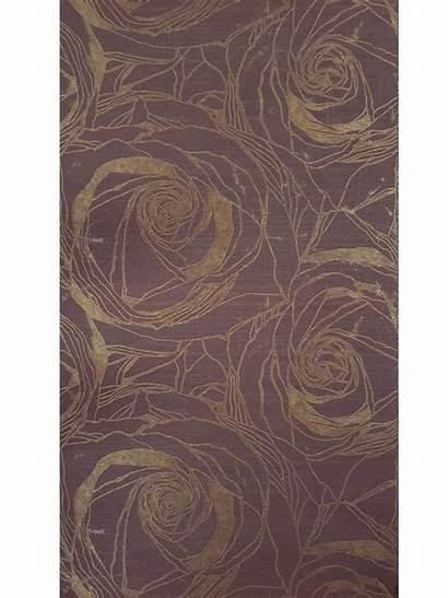 Burgundy Metallic Textured Flowers Floral Rose Roses