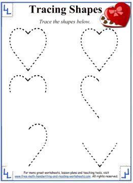tracing shapes worksheets  activities