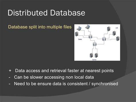 centralised  distributed databases