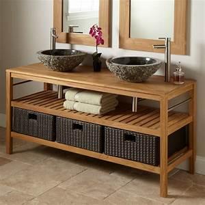Meuble De Salle De Bain Double Vasque : meuble vasque lavabo salle de bain ~ Teatrodelosmanantiales.com Idées de Décoration