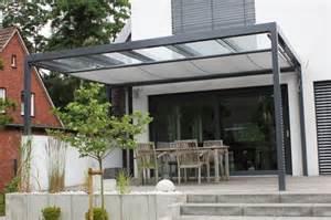 designer terrassen terrassen überdachung flachdach mit glas