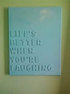 stick foam letters to a canvas then use acrylic or spray With letters to paint over