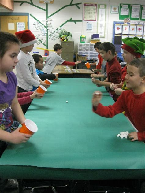christmas party games for kids bouncing mallows