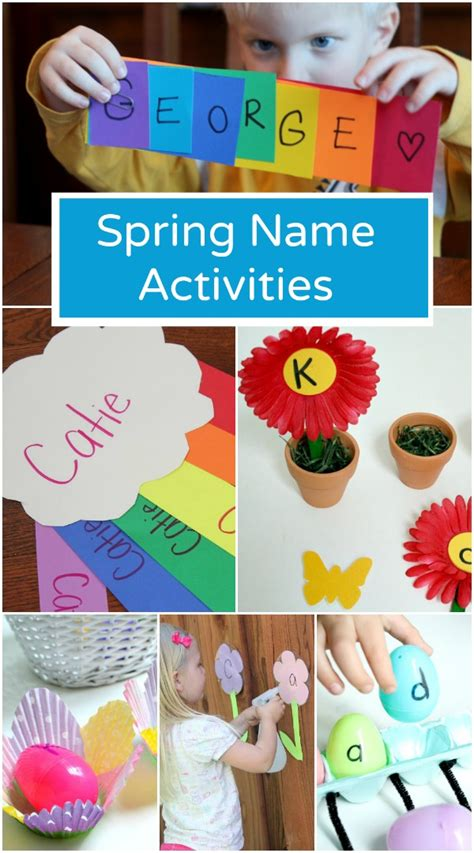 preschool lesson plans for spring name activities fantastic amp learning 496