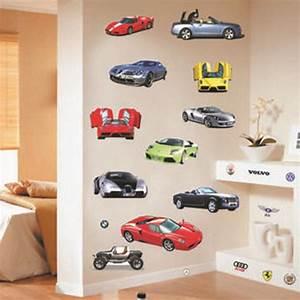 100*90 cm Cartoon Car Wall Sticker For Kids Rooms Children ...