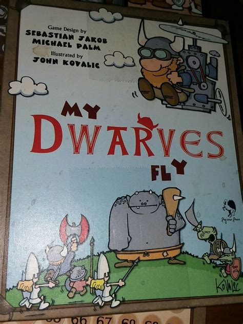 dwarves fly pegasus press board funny cute card game
