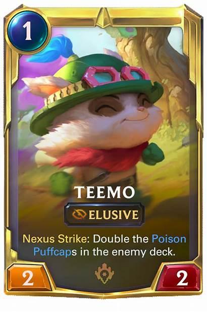 Runeterra Legends Teemo Card Cards Lor
