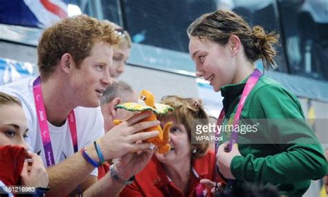 Australia accidentally creates 'furries' as olympic mascots. Prince Harry is given a mascot from Australian Paralympic swimmer... News Photo - Getty Images