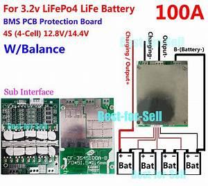 12v 100a Lifepo4 Battery Bms Lfp Pcm Smt System 4s X 3 2v Ebike Battery Balance 699922656046