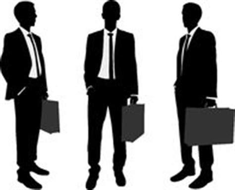 serviette bureau homme homme d 39 affaires avec la serviette silhouettes