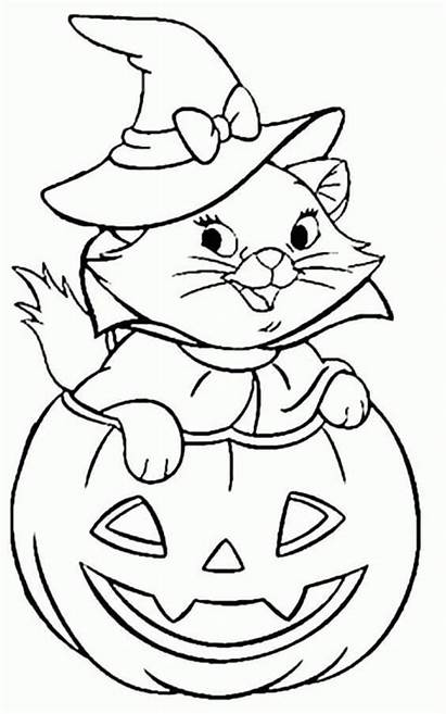 Halloween Coloring Pages Printable Pumpkin Scribblefun Cat