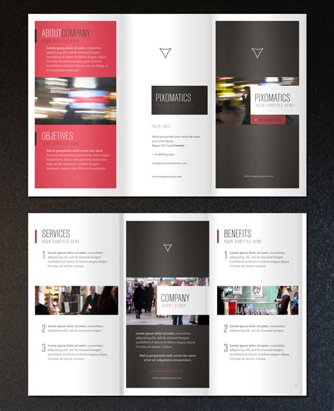 Free Template For Brochure by Free Minimalist Tri Fold Brochure Template Printriver 169