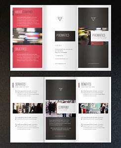 Free minimalist tri fold brochure template printriverc for Brochure templates online